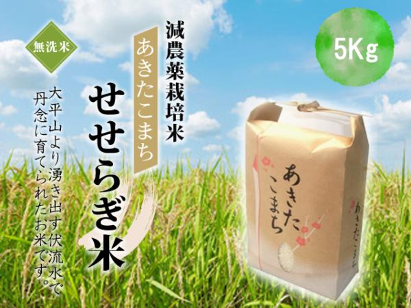 有機減農薬栽培あきたこまち5kg